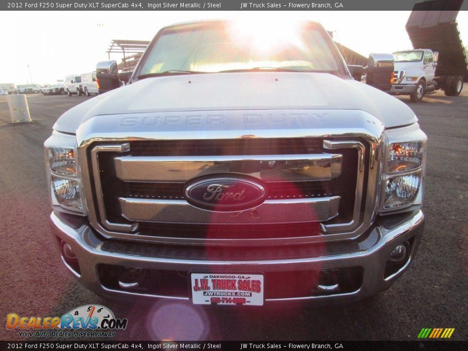 2012 Ford F250 Super Duty XLT SuperCab 4x4 Ingot Silver Metallic / Steel Photo #3