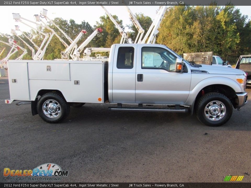 2012 Ford F250 Super Duty XLT SuperCab 4x4 Ingot Silver Metallic / Steel Photo #5