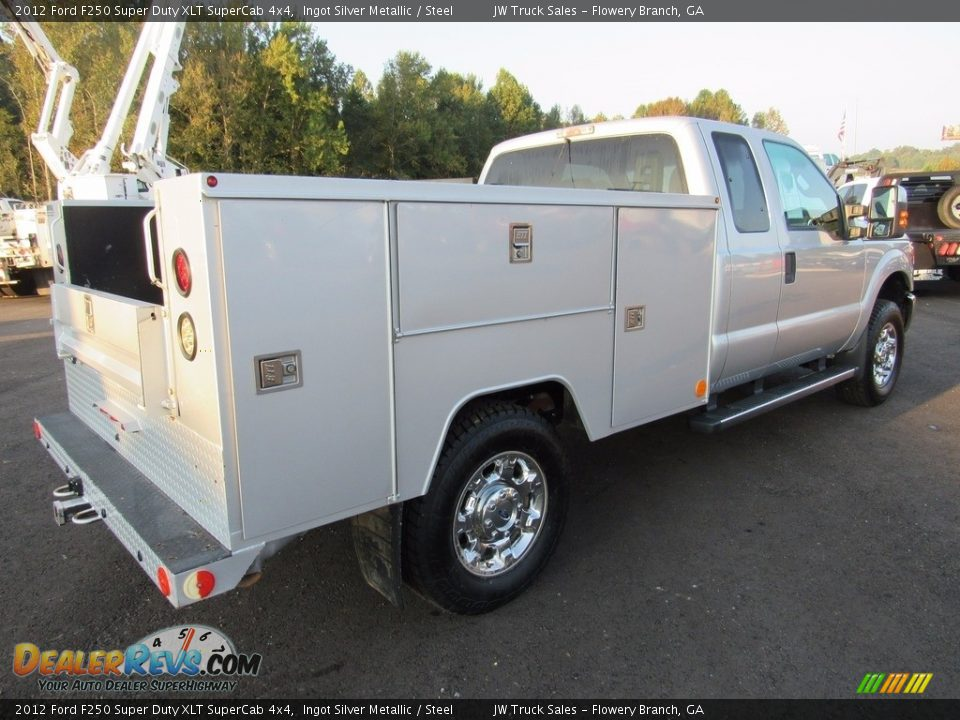2012 Ford F250 Super Duty XLT SuperCab 4x4 Ingot Silver Metallic / Steel Photo #6