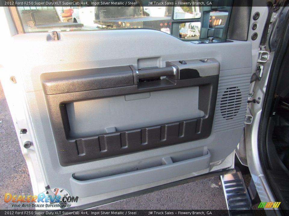 2012 Ford F250 Super Duty XLT SuperCab 4x4 Ingot Silver Metallic / Steel Photo #9