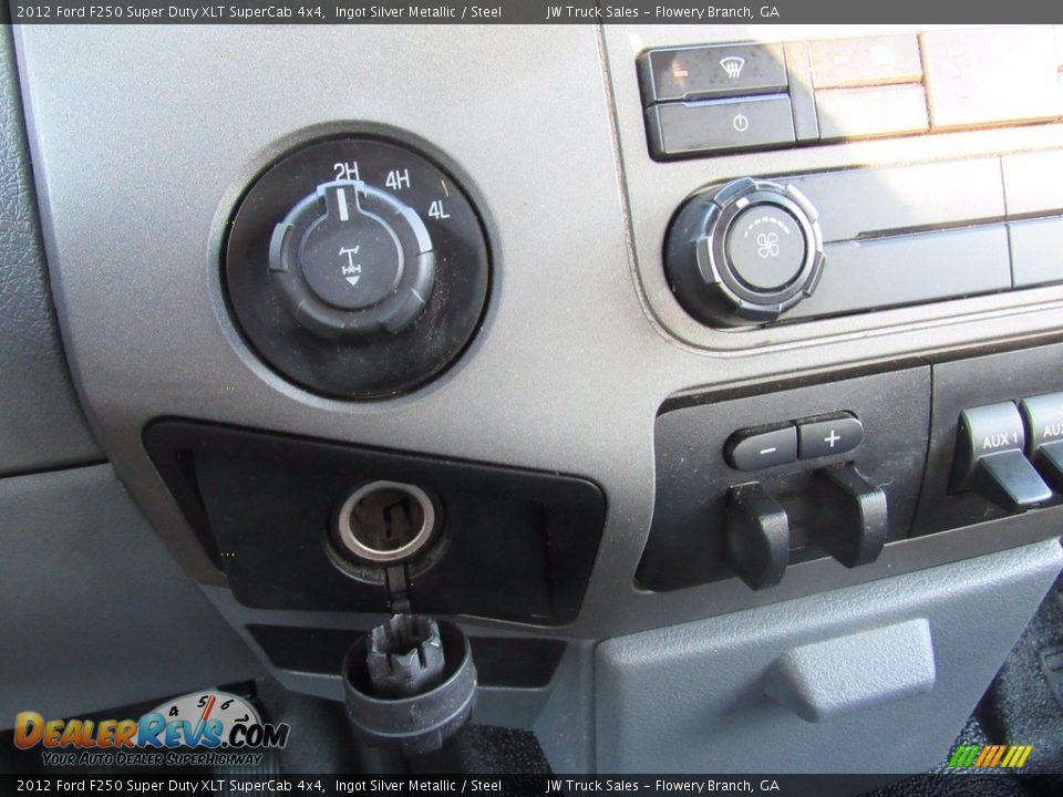 2012 Ford F250 Super Duty XLT SuperCab 4x4 Ingot Silver Metallic / Steel Photo #16