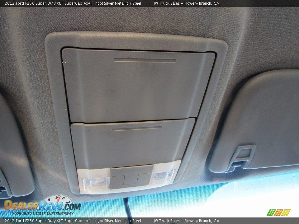 2012 Ford F250 Super Duty XLT SuperCab 4x4 Ingot Silver Metallic / Steel Photo #20