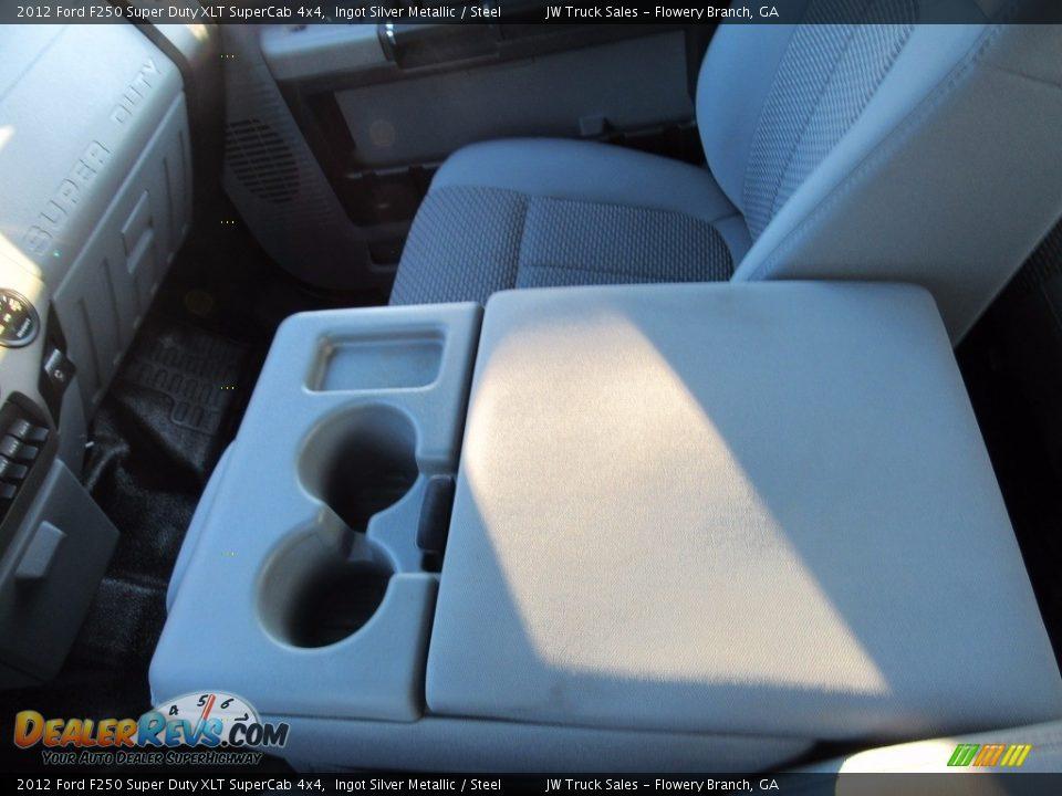 2012 Ford F250 Super Duty XLT SuperCab 4x4 Ingot Silver Metallic / Steel Photo #22