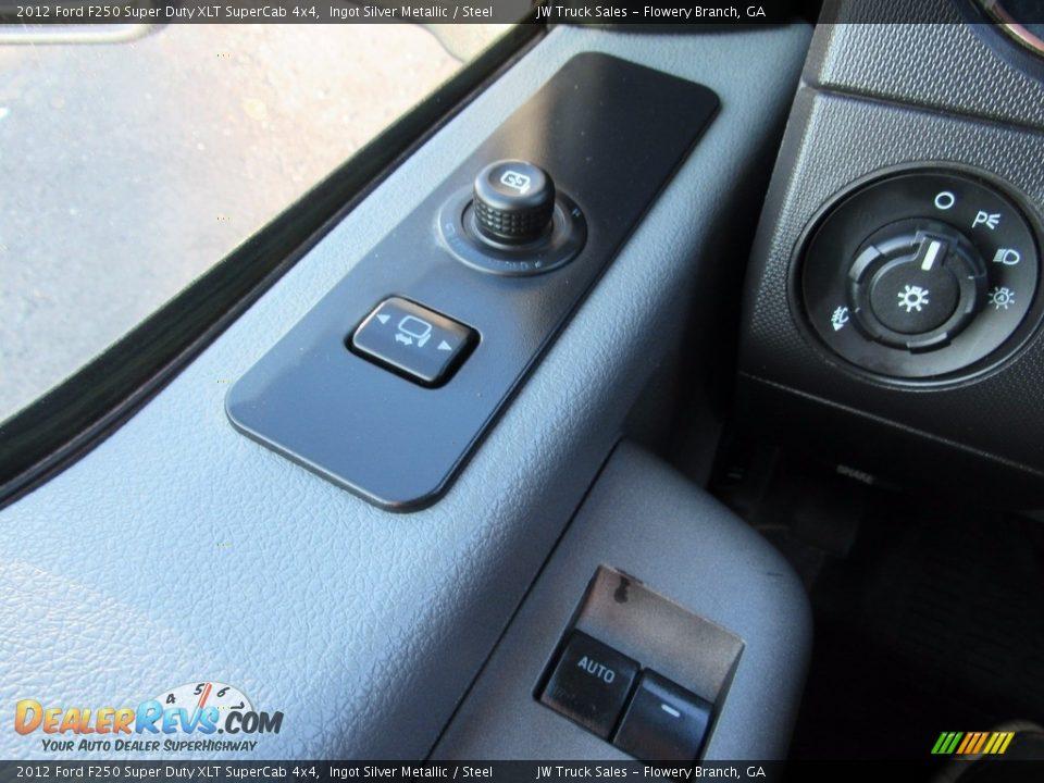 2012 Ford F250 Super Duty XLT SuperCab 4x4 Ingot Silver Metallic / Steel Photo #25