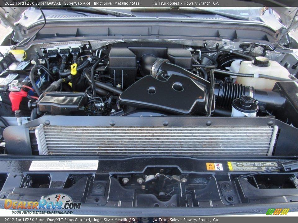 2012 Ford F250 Super Duty XLT SuperCab 4x4 Ingot Silver Metallic / Steel Photo #28