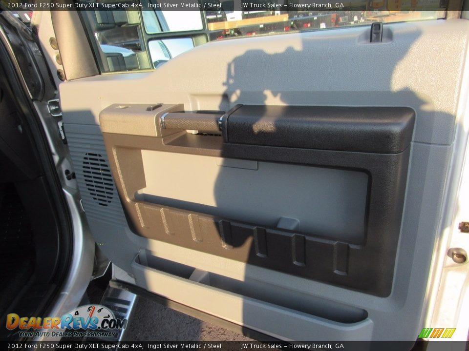2012 Ford F250 Super Duty XLT SuperCab 4x4 Ingot Silver Metallic / Steel Photo #29