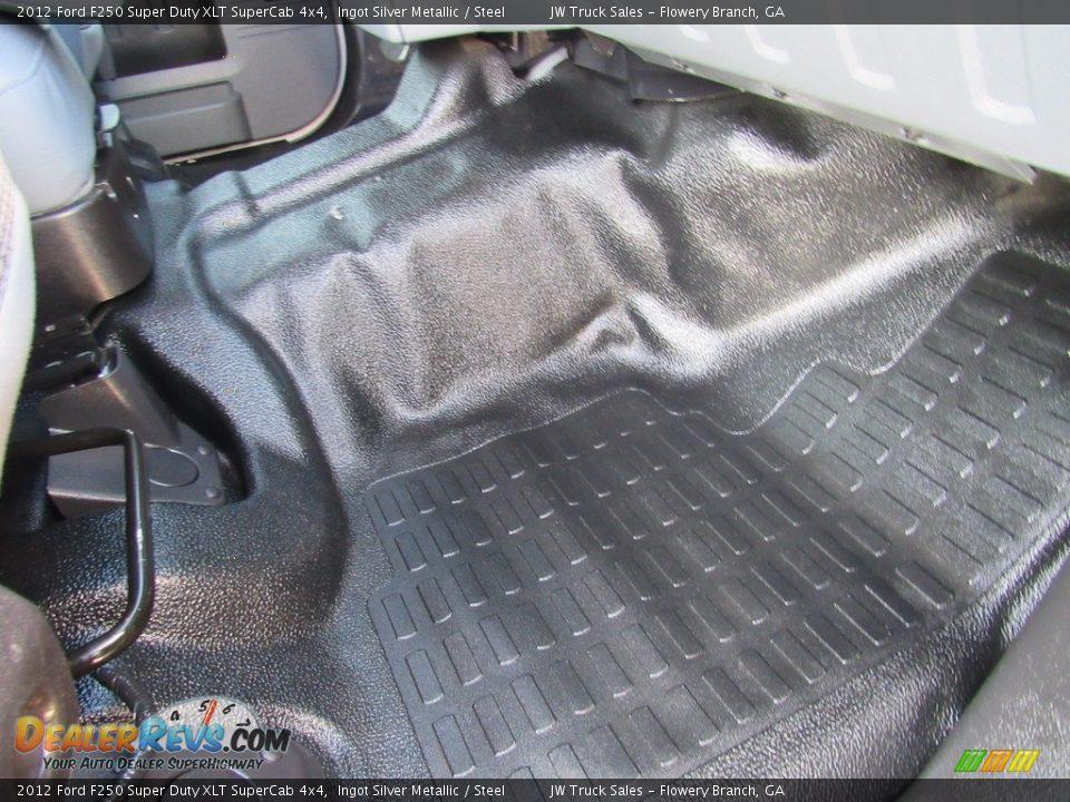 2012 Ford F250 Super Duty XLT SuperCab 4x4 Ingot Silver Metallic / Steel Photo #30