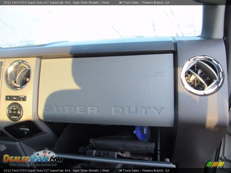 2012 Ford F250 Super Duty XLT SuperCab 4x4 Ingot Silver Metallic / Steel Photo #33