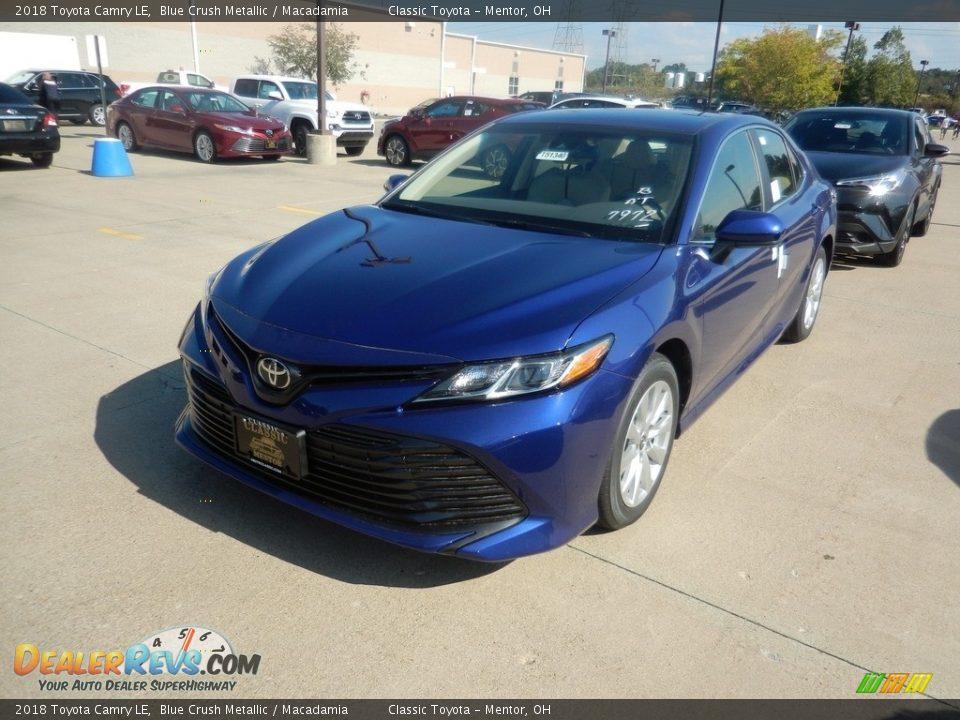2018 Toyota Camry LE Blue Crush Metallic / Macadamia Photo #1