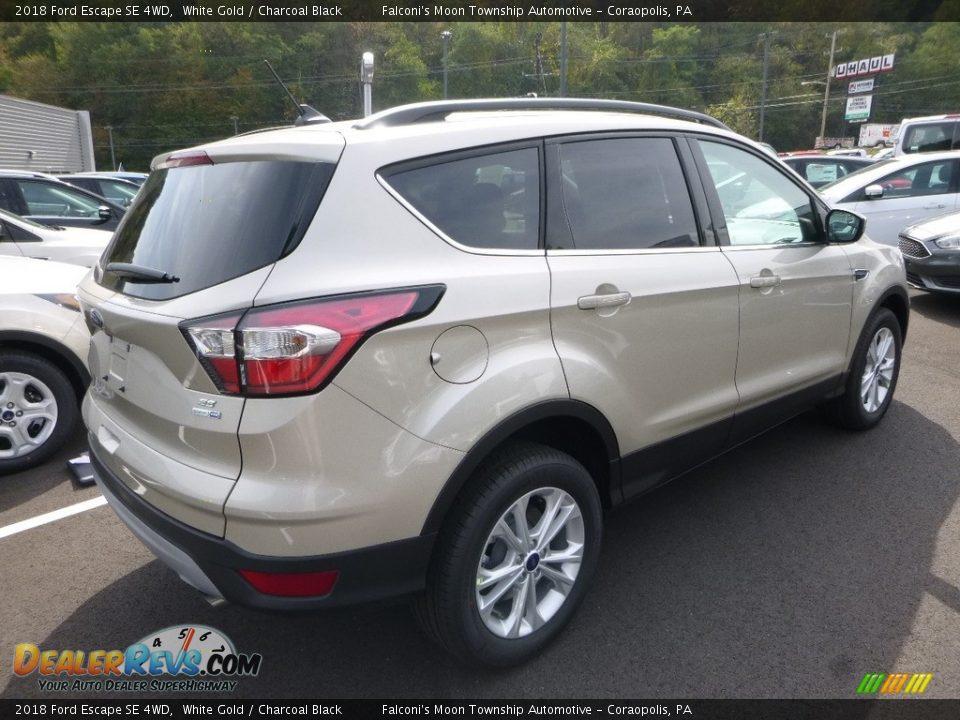 2018 Ford Escape SE 4WD White Gold / Charcoal Black Photo #2