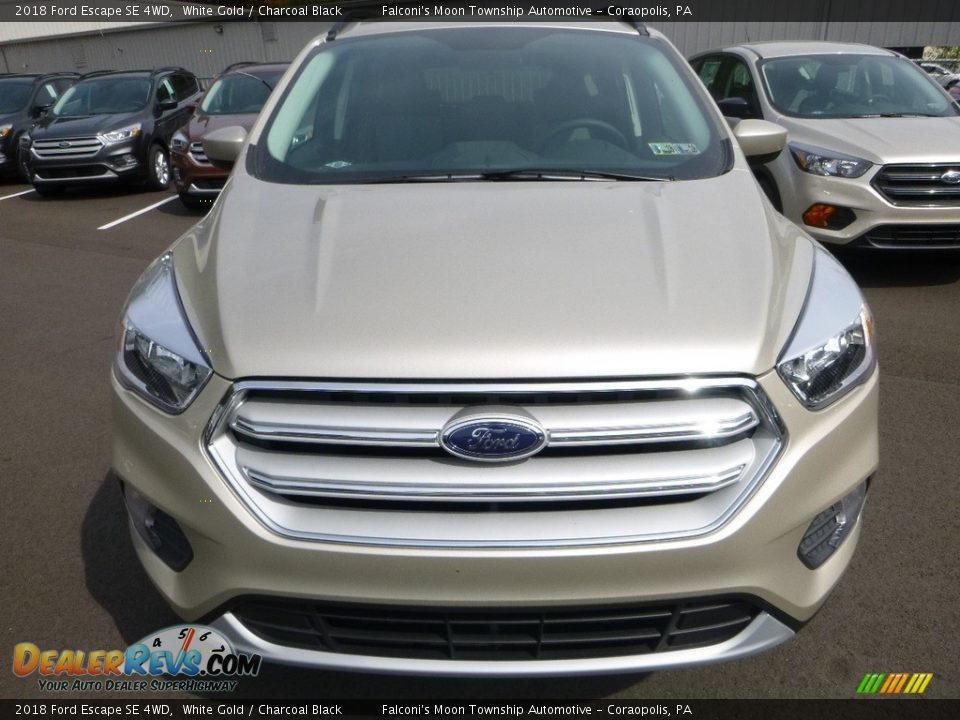 2018 Ford Escape SE 4WD White Gold / Charcoal Black Photo #4