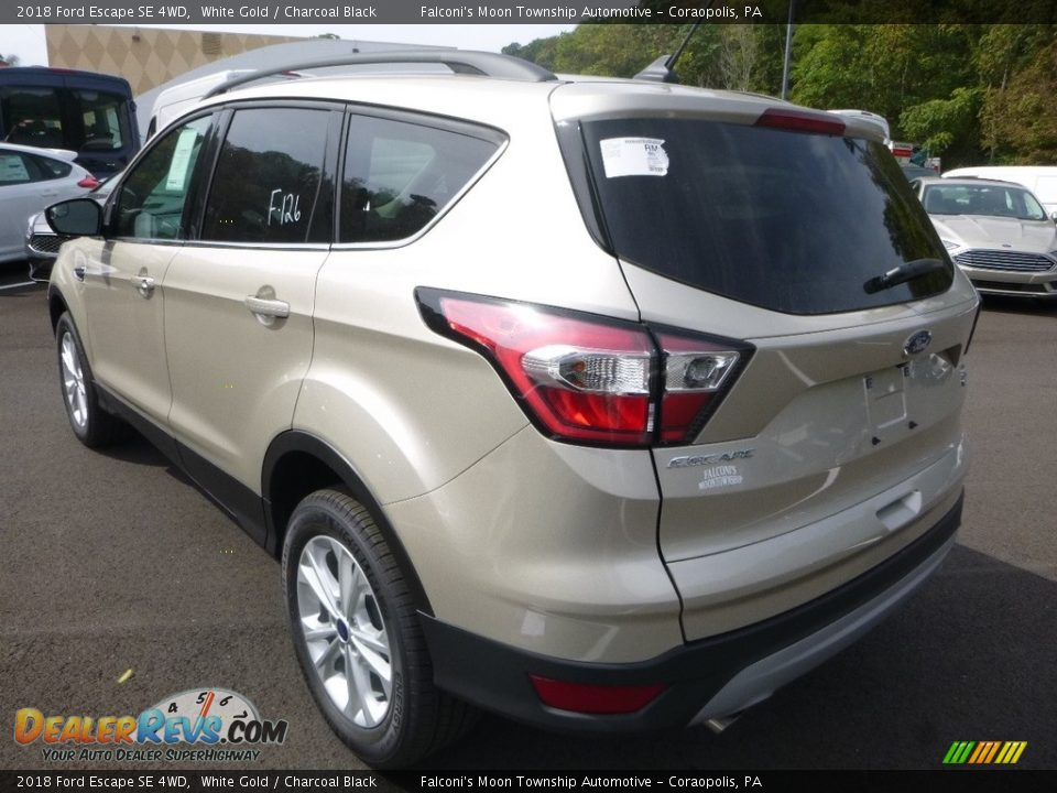 2018 Ford Escape SE 4WD White Gold / Charcoal Black Photo #6