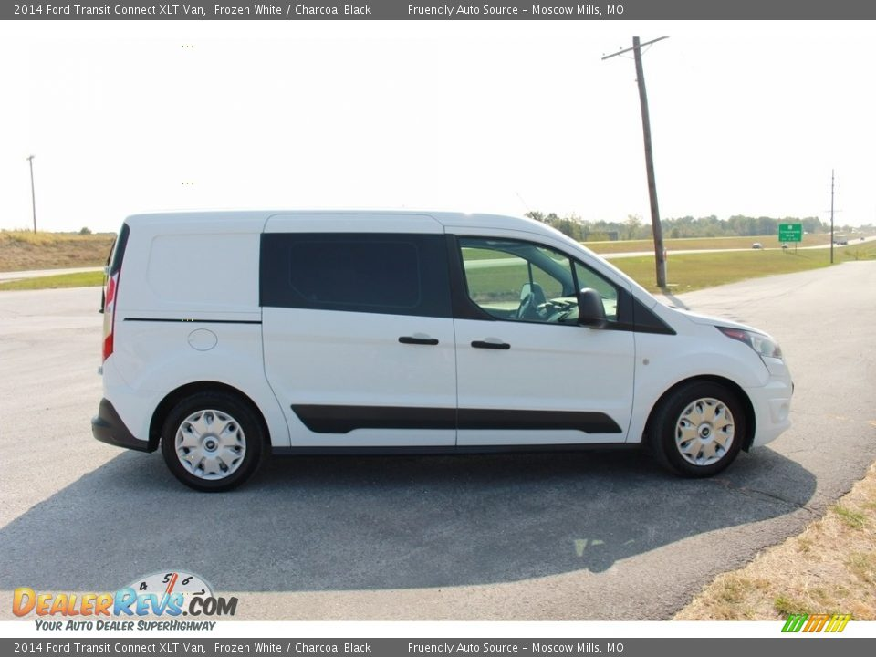 2014 Ford Transit Connect XLT Van Frozen White / Charcoal Black Photo #8