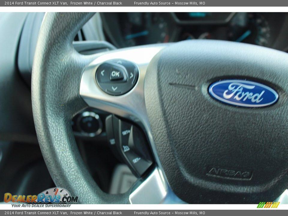 2014 Ford Transit Connect XLT Van Frozen White / Charcoal Black Photo #11