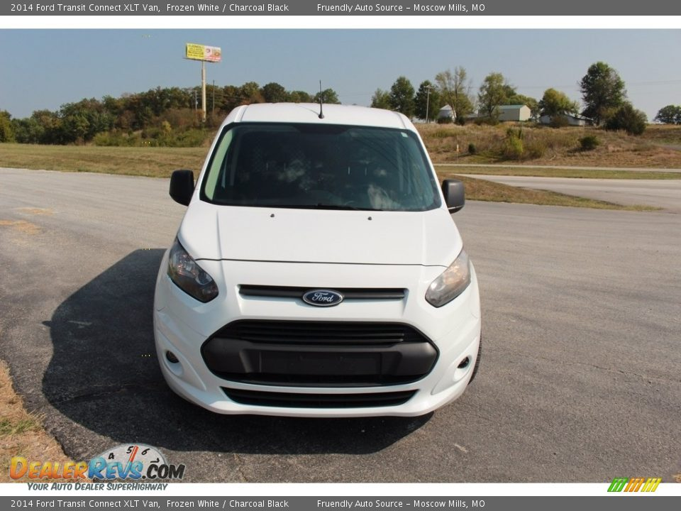 2014 Ford Transit Connect XLT Van Frozen White / Charcoal Black Photo #13
