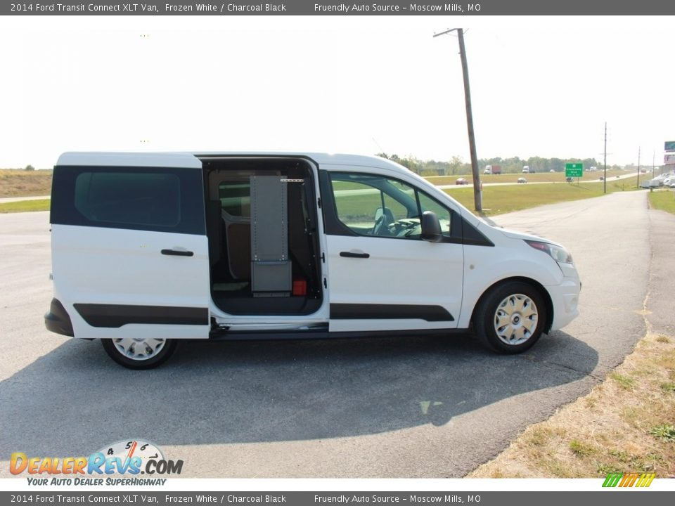 2014 Ford Transit Connect XLT Van Frozen White / Charcoal Black Photo #18
