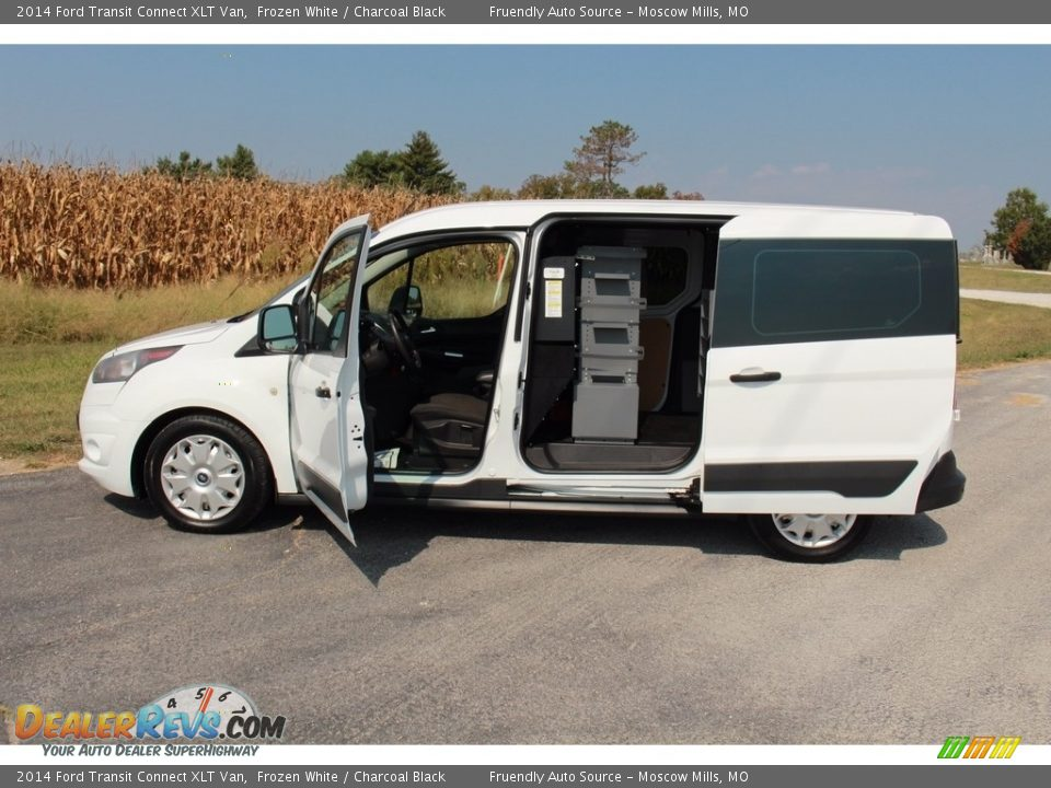 2014 Ford Transit Connect XLT Van Frozen White / Charcoal Black Photo #19