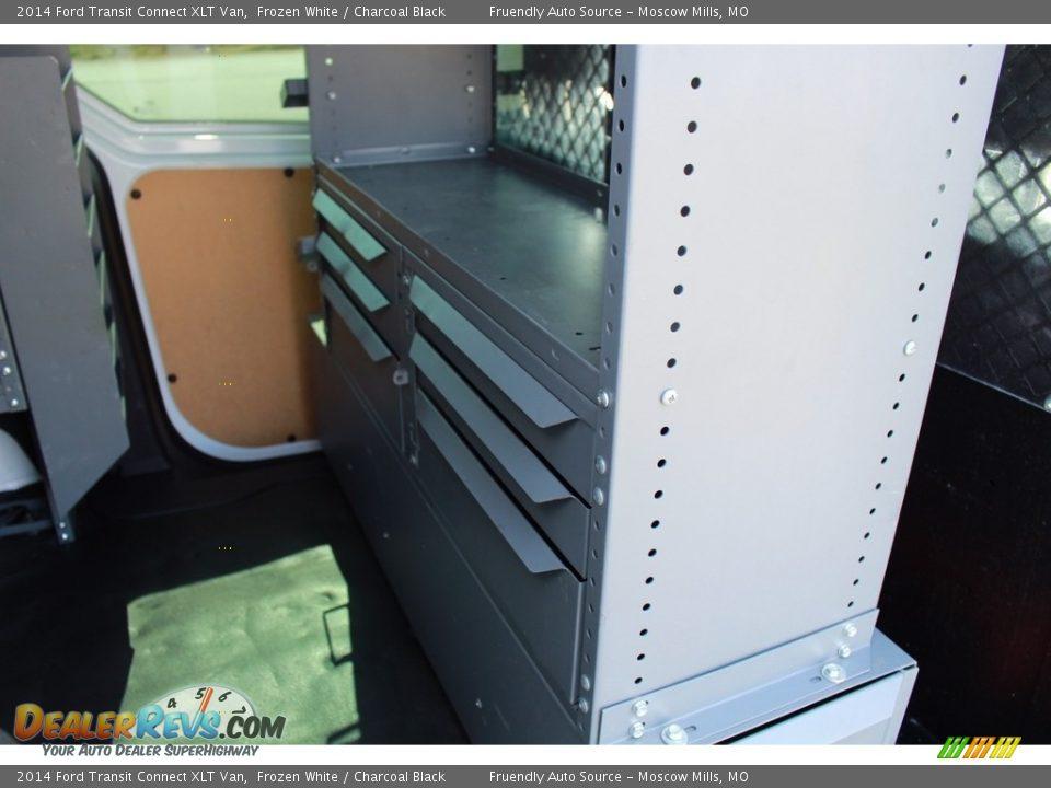 2014 Ford Transit Connect XLT Van Frozen White / Charcoal Black Photo #20