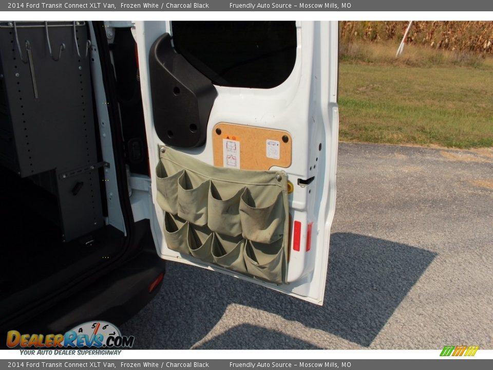 2014 Ford Transit Connect XLT Van Frozen White / Charcoal Black Photo #36