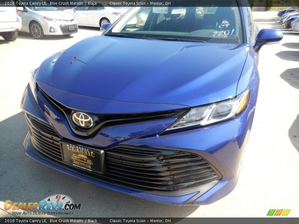 2018 Toyota Camry LE Blue Crush Metallic / Black Photo #1