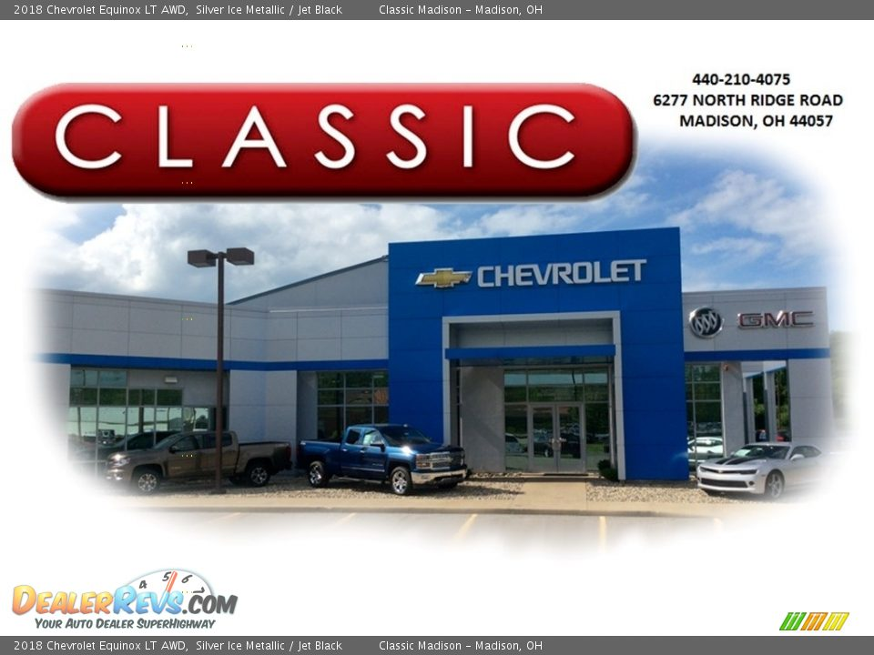 2018 Chevrolet Equinox LT AWD Silver Ice Metallic / Jet Black Photo #22