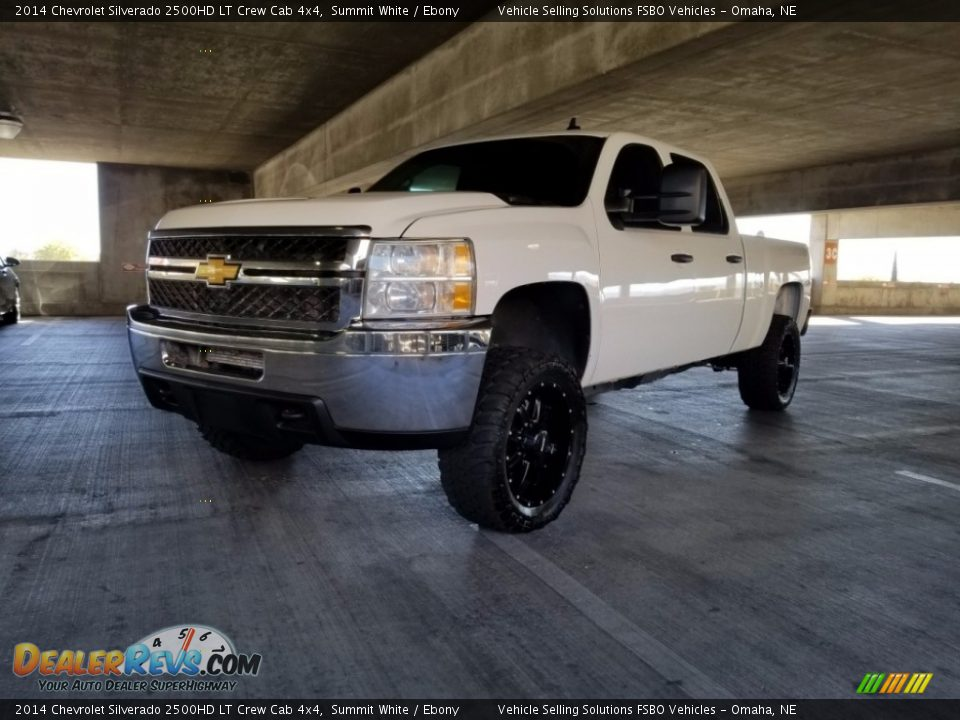 2014 Chevrolet Silverado 2500HD LT Crew Cab 4x4 Summit White / Ebony Photo #2