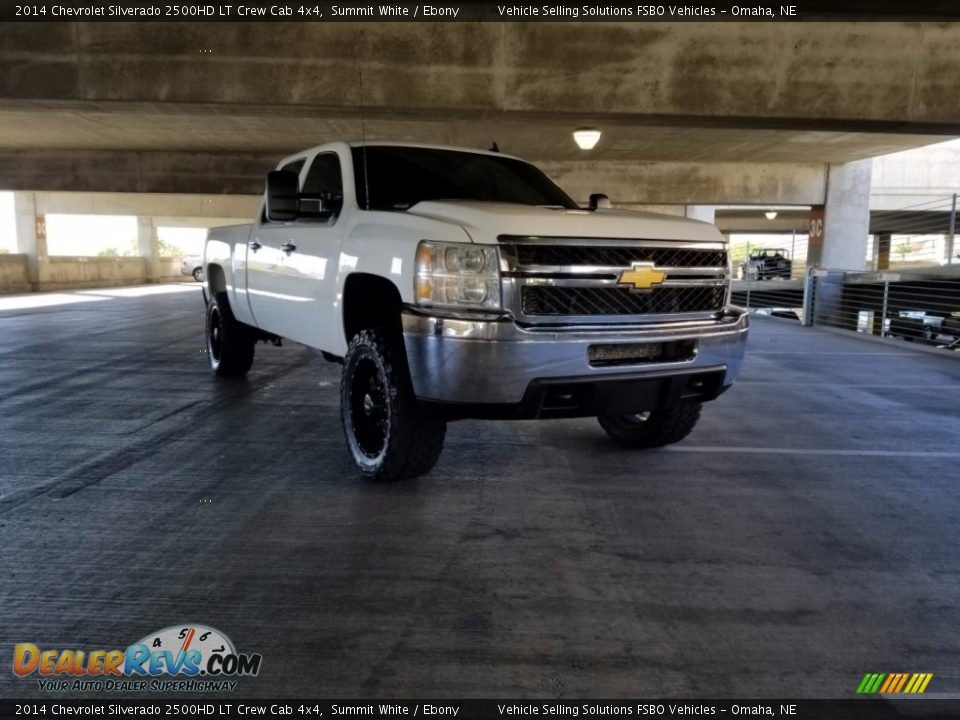 2014 Chevrolet Silverado 2500HD LT Crew Cab 4x4 Summit White / Ebony Photo #16