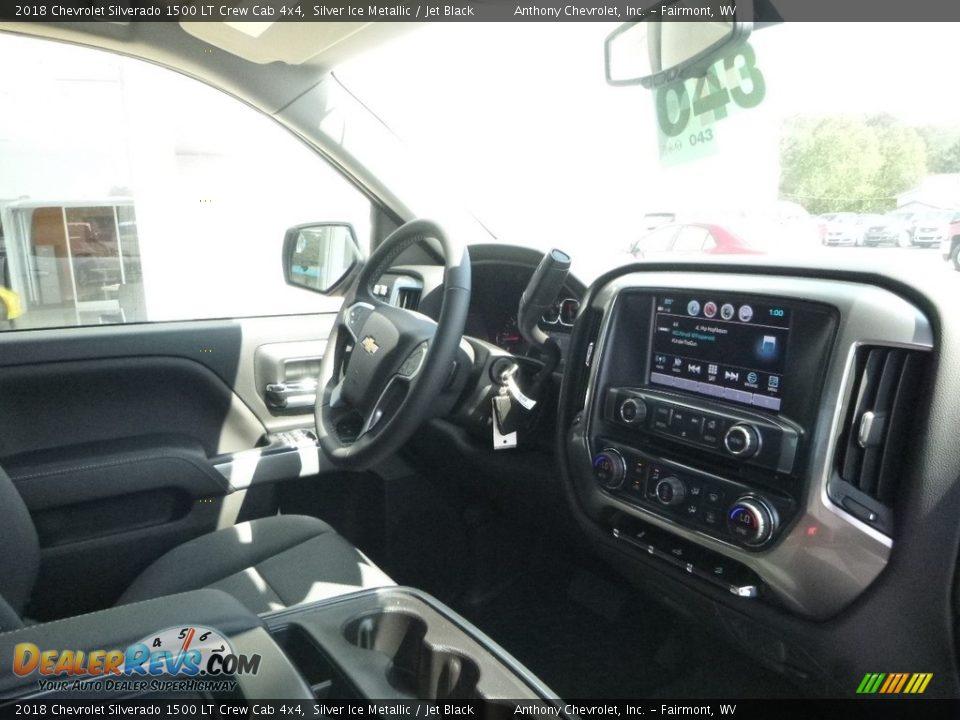 2018 Chevrolet Silverado 1500 LT Crew Cab 4x4 Silver Ice Metallic / Jet Black Photo #4