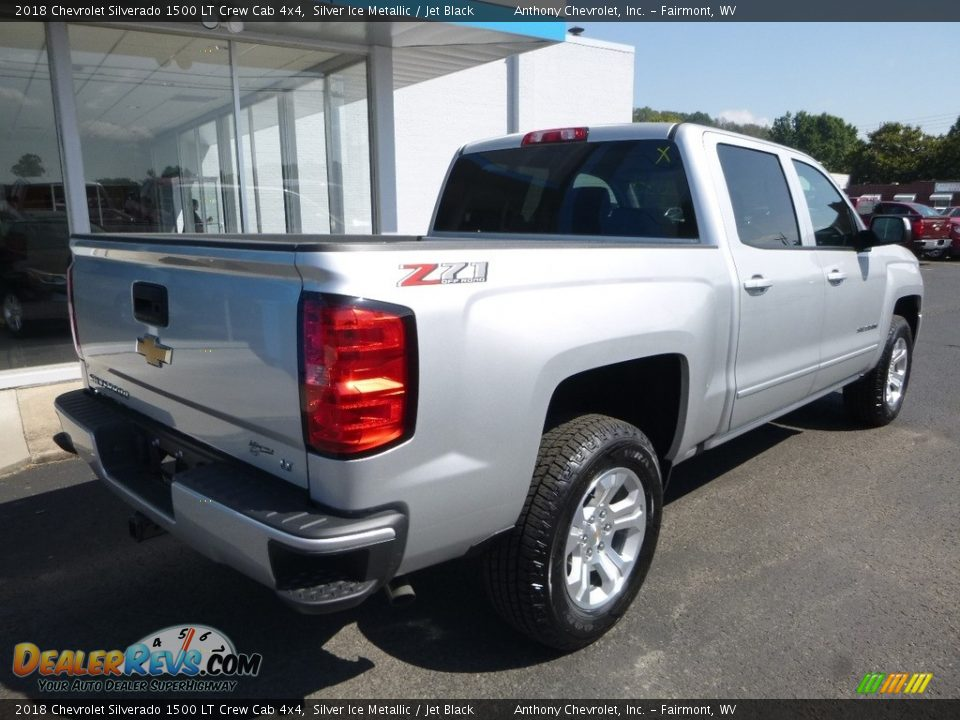 2018 Chevrolet Silverado 1500 LT Crew Cab 4x4 Silver Ice Metallic / Jet Black Photo #8