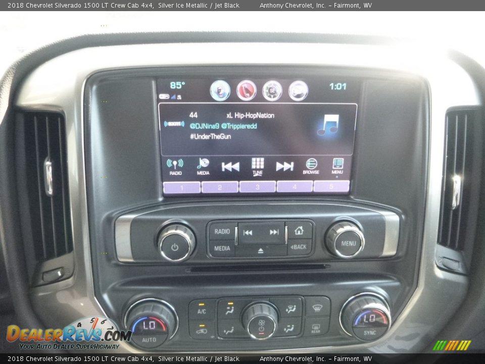 2018 Chevrolet Silverado 1500 LT Crew Cab 4x4 Silver Ice Metallic / Jet Black Photo #16