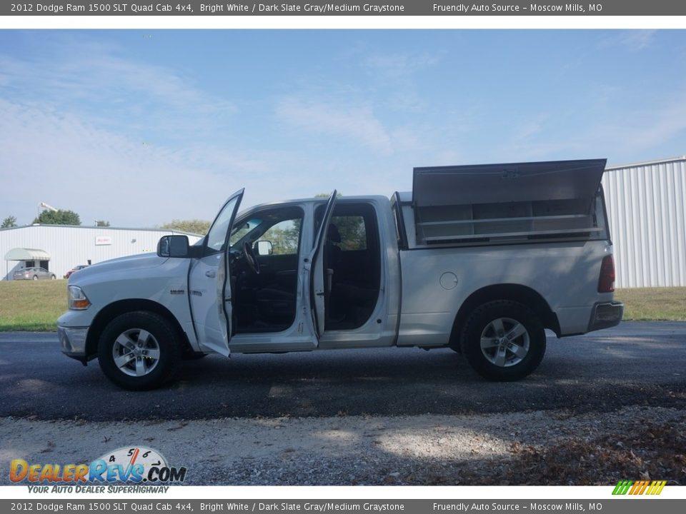 2012 Dodge Ram 1500 SLT Quad Cab 4x4 Bright White / Dark Slate Gray/Medium Graystone Photo #2