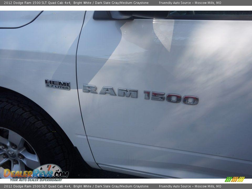 2012 Dodge Ram 1500 SLT Quad Cab 4x4 Bright White / Dark Slate Gray/Medium Graystone Photo #27