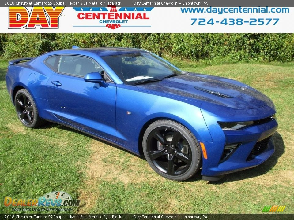 2018 Chevrolet Camaro SS Coupe Hyper Blue Metallic / Jet Black Photo #1