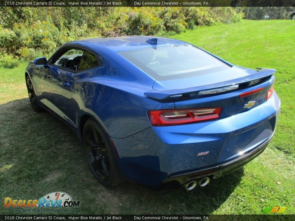 2018 Chevrolet Camaro SS Coupe Hyper Blue Metallic / Jet Black Photo #8
