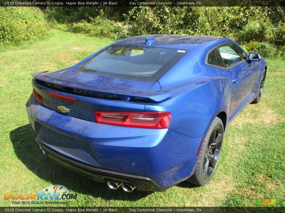 2018 Chevrolet Camaro SS Coupe Hyper Blue Metallic / Jet Black Photo #9