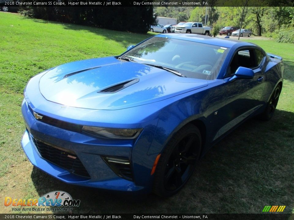 2018 Chevrolet Camaro SS Coupe Hyper Blue Metallic / Jet Black Photo #12