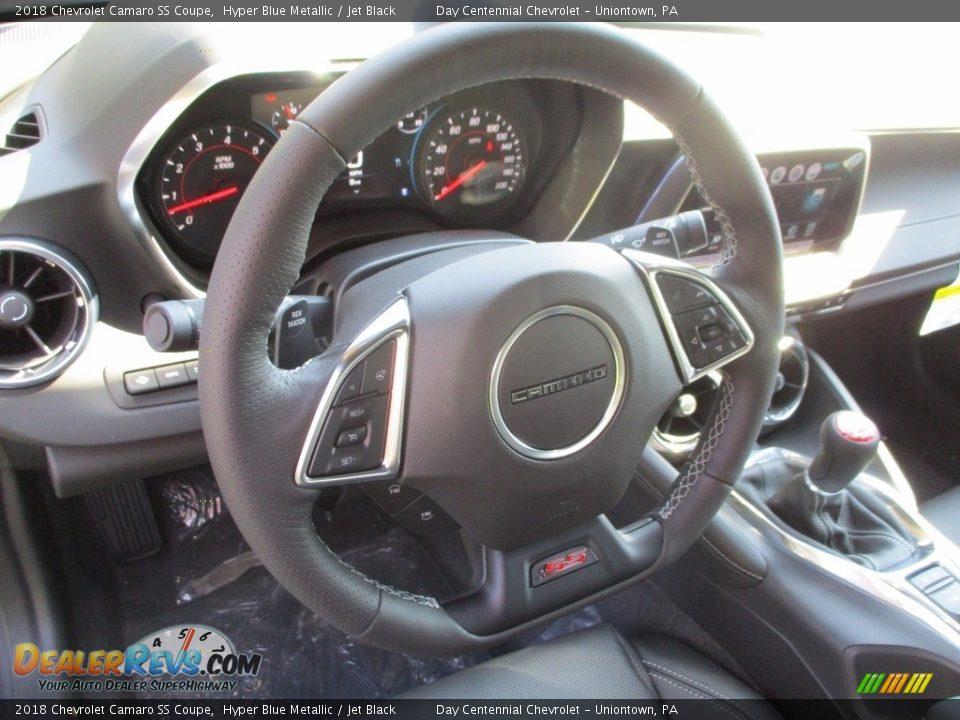 2018 Chevrolet Camaro SS Coupe Hyper Blue Metallic / Jet Black Photo #16