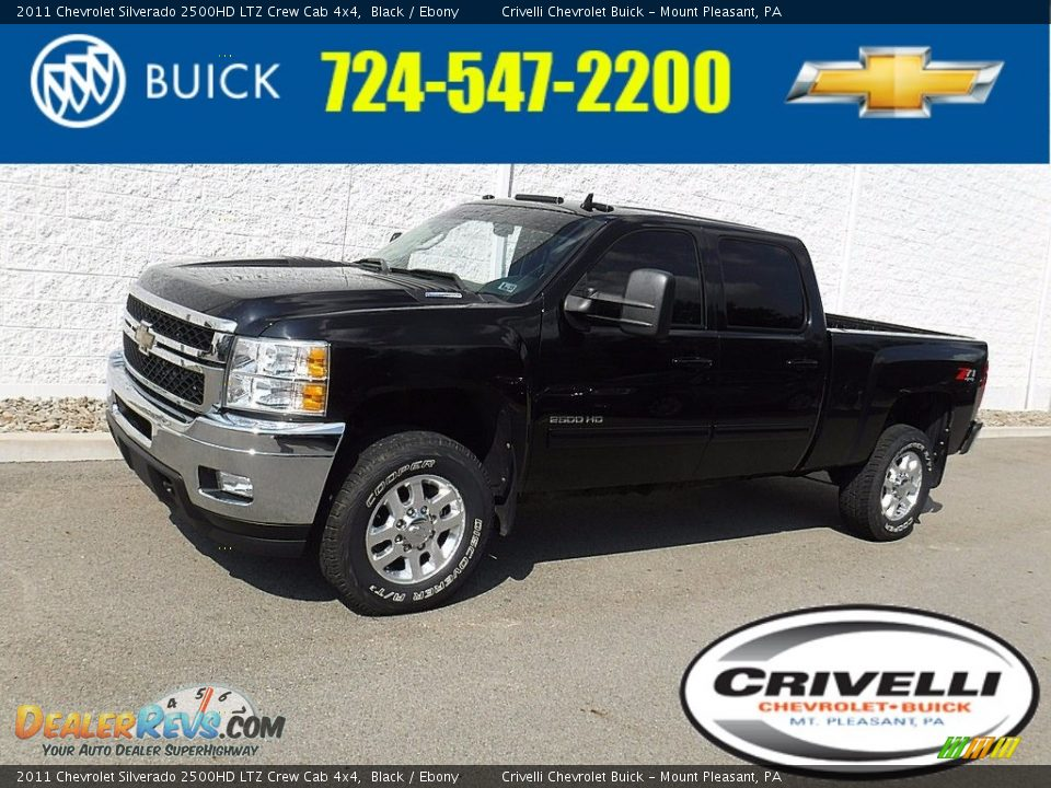 2011 Chevrolet Silverado 2500HD LTZ Crew Cab 4x4 Black / Ebony Photo #1