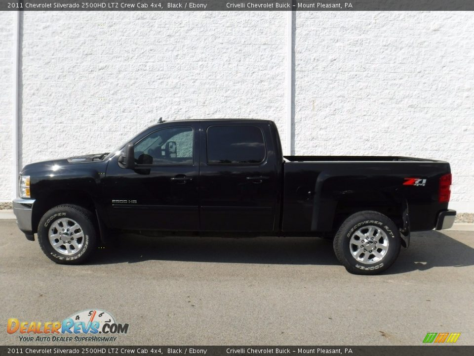 2011 Chevrolet Silverado 2500HD LTZ Crew Cab 4x4 Black / Ebony Photo #2