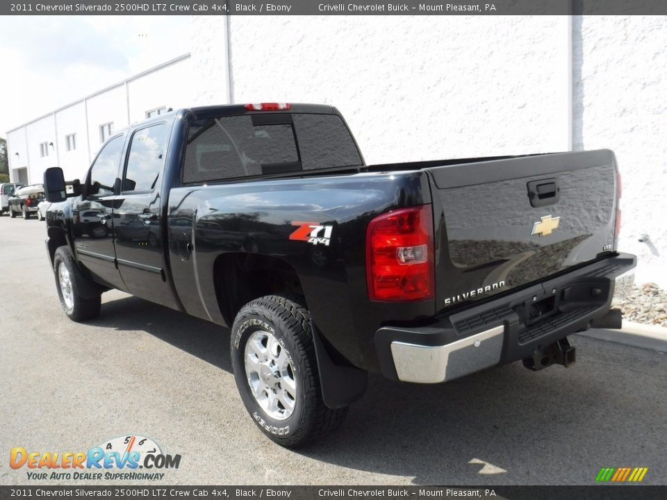 2011 Chevrolet Silverado 2500HD LTZ Crew Cab 4x4 Black / Ebony Photo #13