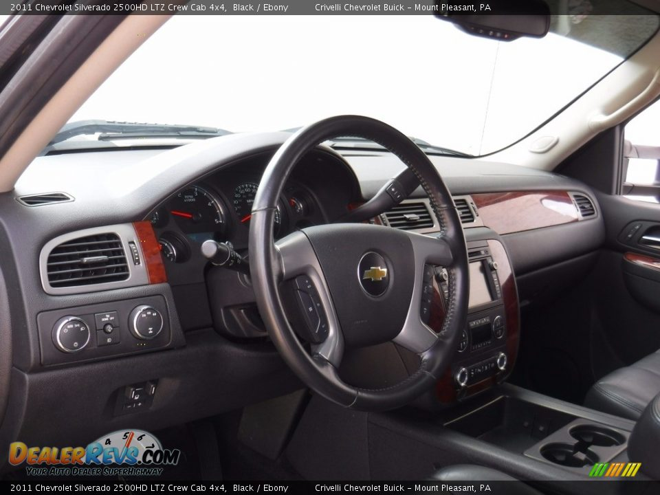 2011 Chevrolet Silverado 2500HD LTZ Crew Cab 4x4 Black / Ebony Photo #18