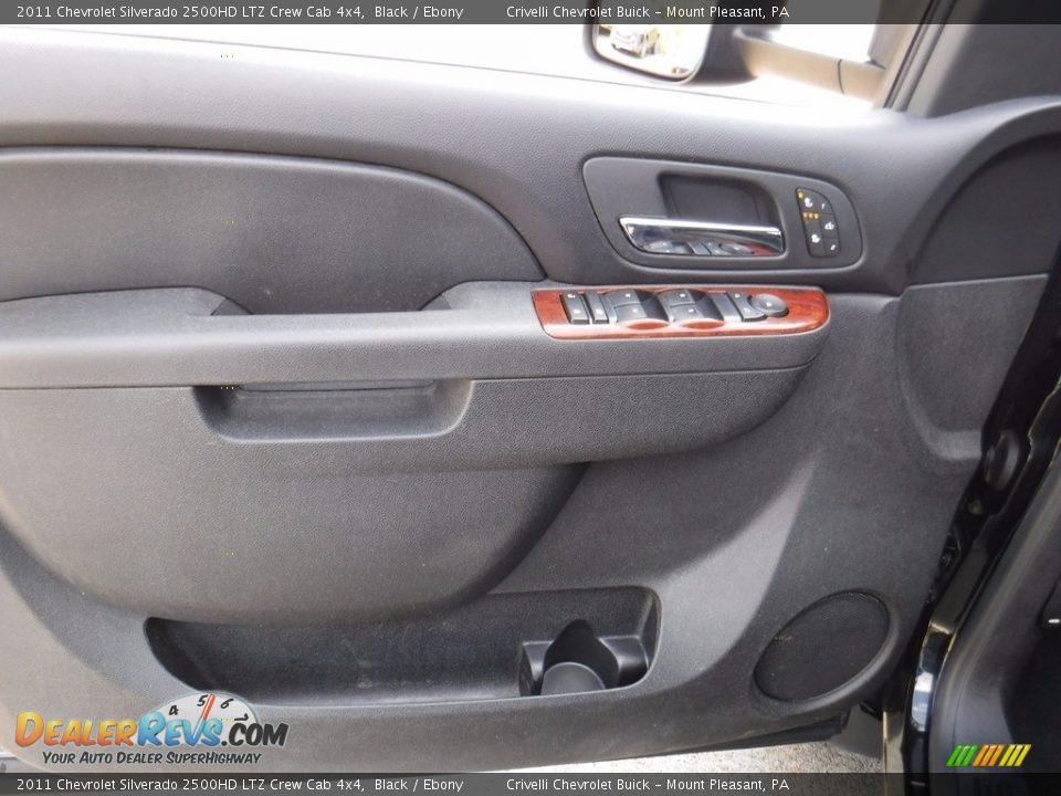 2011 Chevrolet Silverado 2500HD LTZ Crew Cab 4x4 Black / Ebony Photo #20