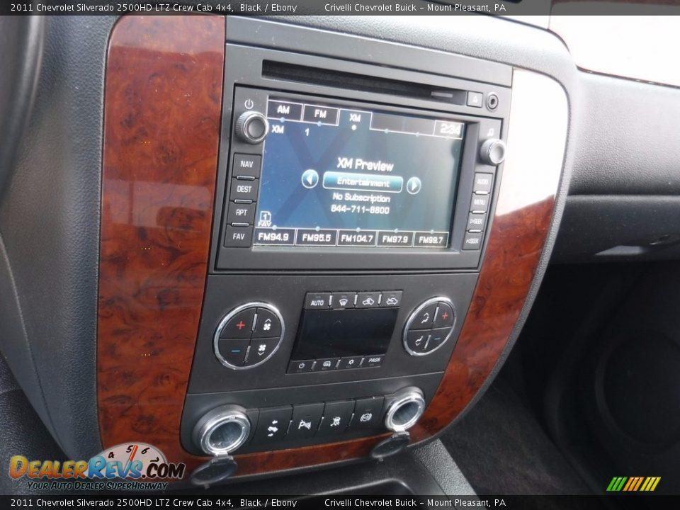 2011 Chevrolet Silverado 2500HD LTZ Crew Cab 4x4 Black / Ebony Photo #26