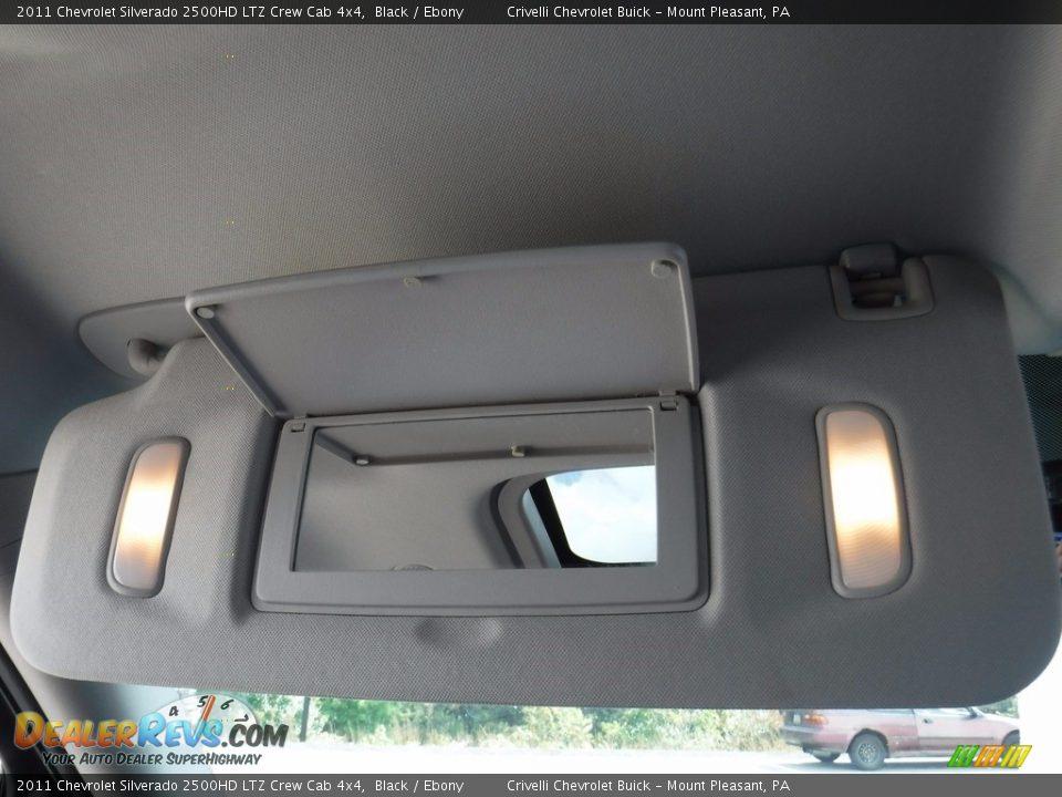 2011 Chevrolet Silverado 2500HD LTZ Crew Cab 4x4 Black / Ebony Photo #31