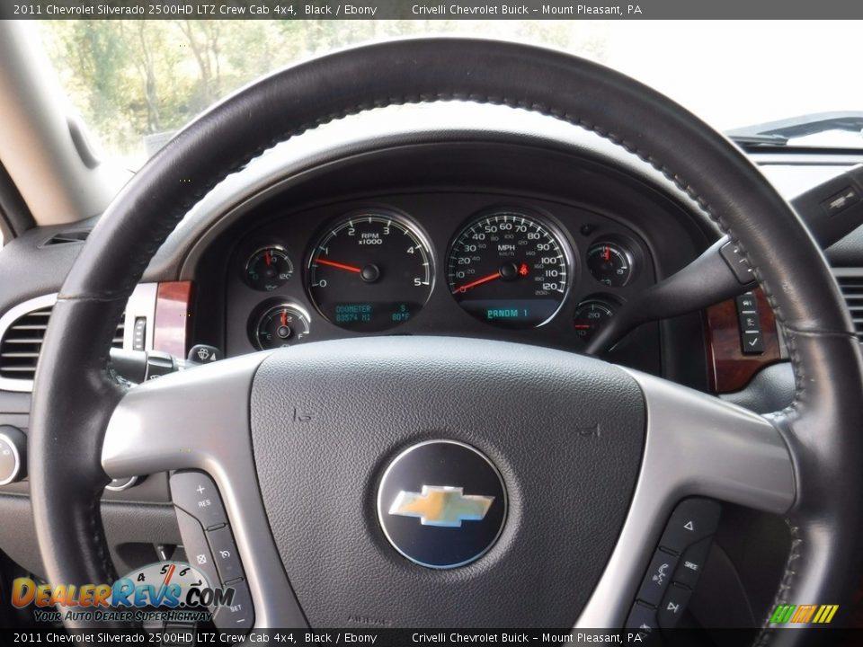 2011 Chevrolet Silverado 2500HD LTZ Crew Cab 4x4 Black / Ebony Photo #32