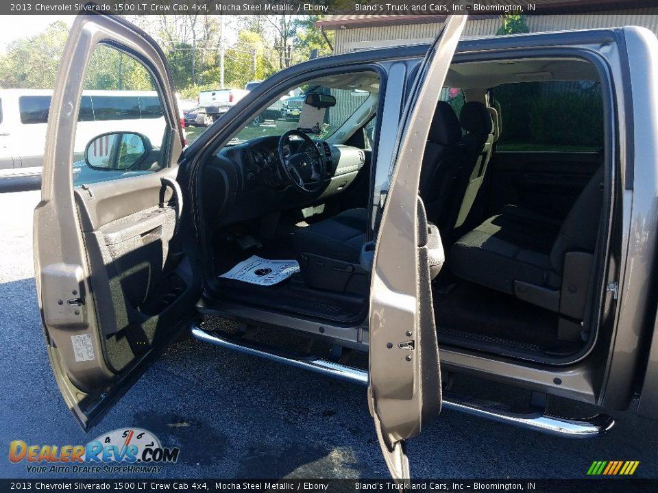 2013 Chevrolet Silverado 1500 LT Crew Cab 4x4 Mocha Steel Metallic / Ebony Photo #13