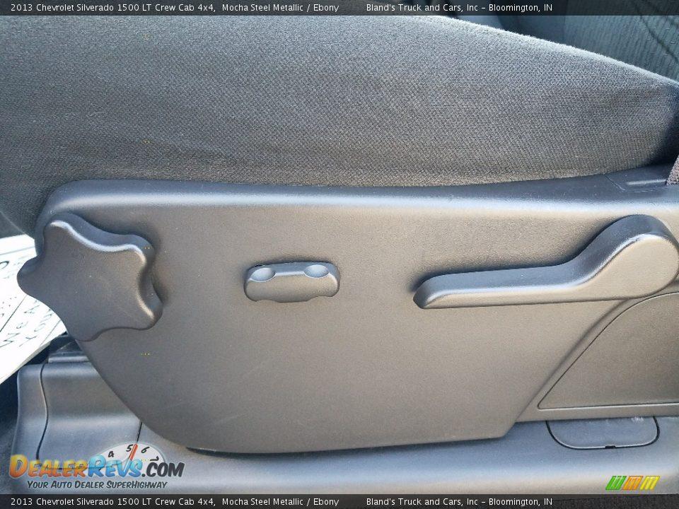 2013 Chevrolet Silverado 1500 LT Crew Cab 4x4 Mocha Steel Metallic / Ebony Photo #17