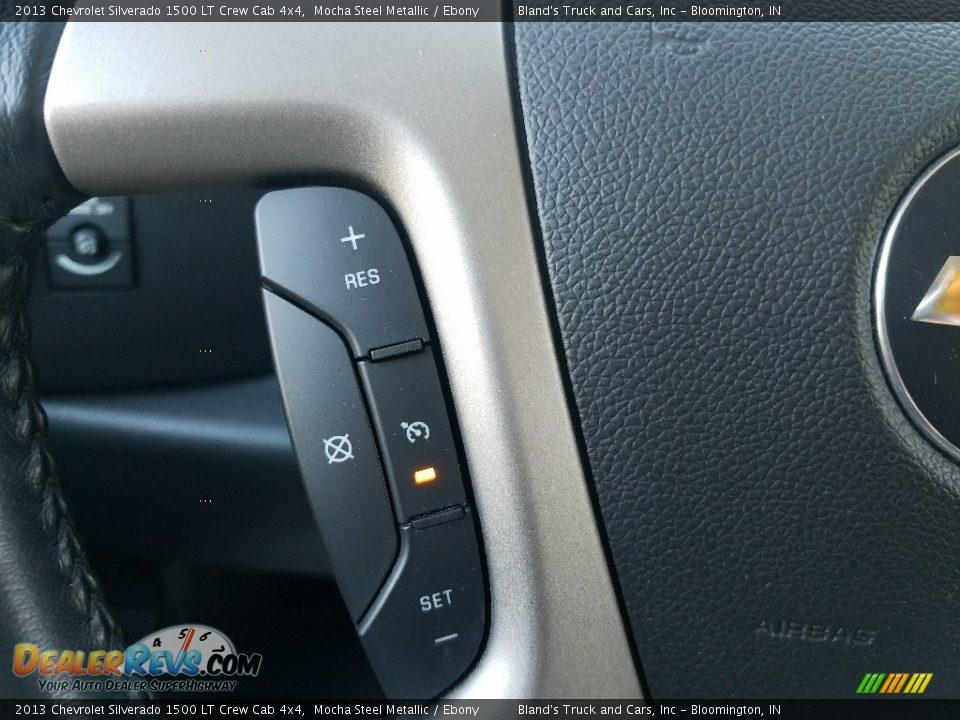 2013 Chevrolet Silverado 1500 LT Crew Cab 4x4 Mocha Steel Metallic / Ebony Photo #22