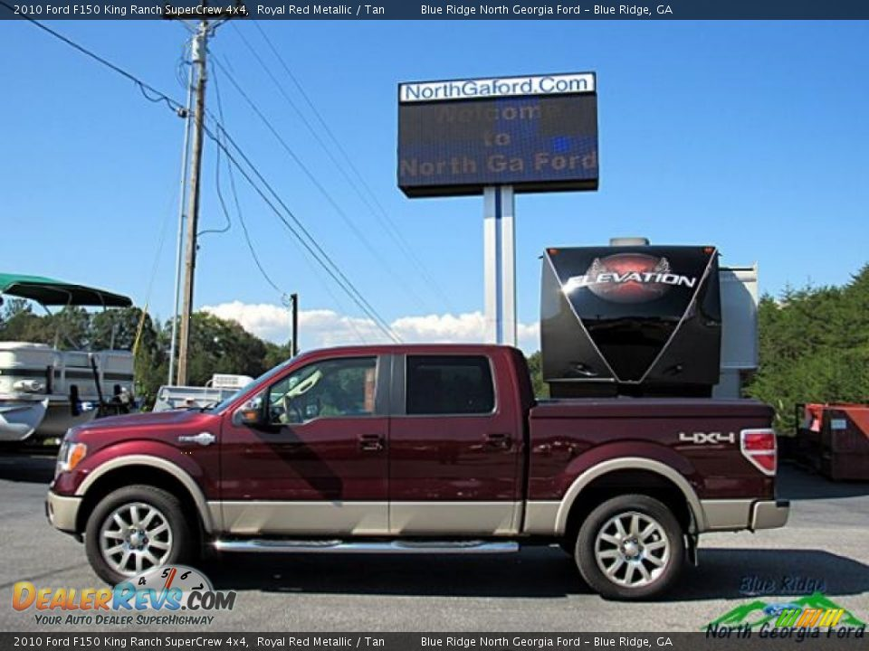 2010 Ford F150 King Ranch SuperCrew 4x4 Royal Red Metallic / Tan Photo #2