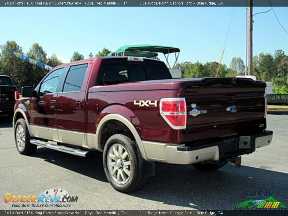 2010 Ford F150 King Ranch SuperCrew 4x4 Royal Red Metallic / Tan Photo #3